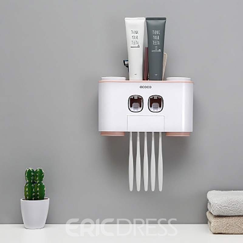 Ericdress Bathroom Accessories Sets Wall Mount Toothbrush Holder Automatic