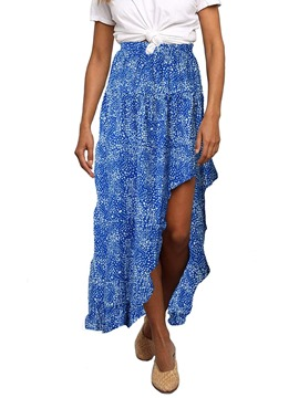 Ericdress Asymmetrical Ankle-Length Floral Travel Look Women's Skirt