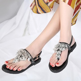Ericdress Buckle Thong Flat With Casual Sandals