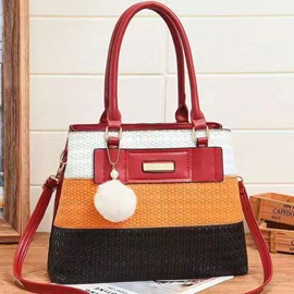 Ericdress PU Knitted Rectangle Shoulder Bags