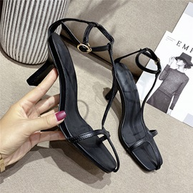 Ericdress Open Toe T-Shaped Buckle Casual Sandals