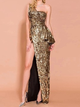 Ericdress Floor-Length Sleeveless Sequins Bodycon Mid Waist Women's Dress