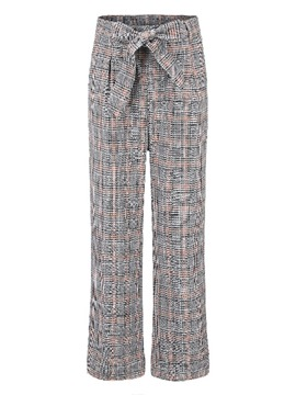Ericdress Plaid Print Loose Straight Women's Casual Pants