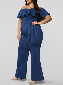 Ericdress Plain Full Length Falbala Loose Women's Jumpsuit