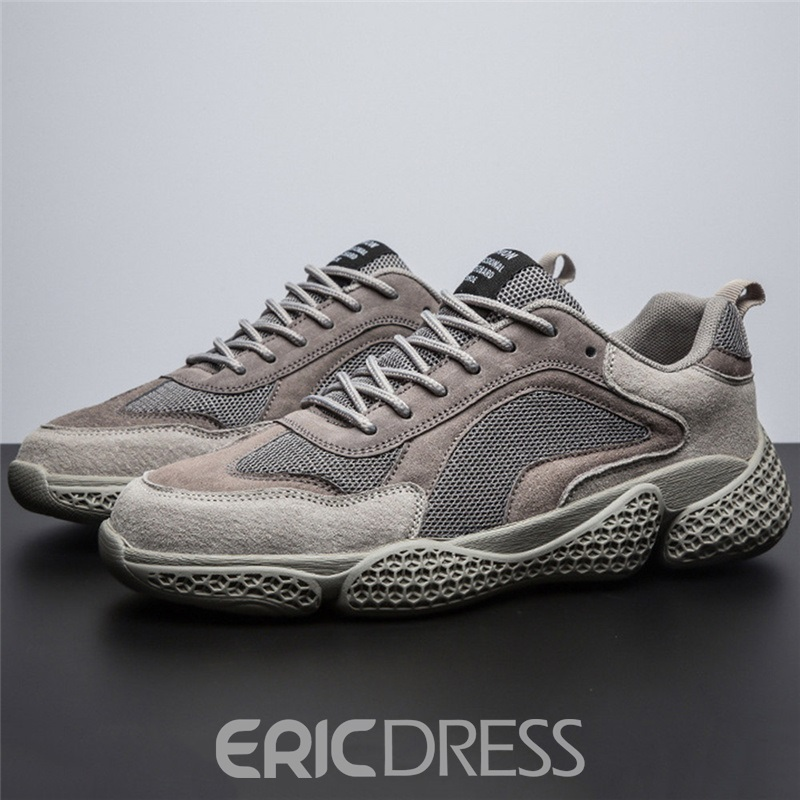 Ericdress Lace-Up Flat With Low-Cut Upper Round Toe Sneakers