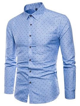 Ericdress Lapel Casual Single-Breasted Men's Shirt