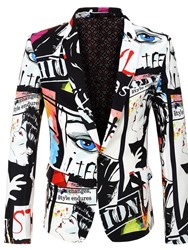 Ericdress Letter Print One Button Mens Leisure Blazers фото