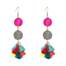 Ericdress Tassel Ethnic Wedding Color Block Drop Earrings