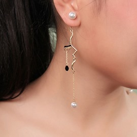 Ericdress Diamante European Party Earrings