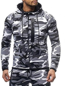 Ericdress Zipper Camouflage Cardigan Men's Hoodies