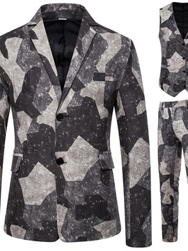 Ericdress Vest Casual Print Dress Men's Suit