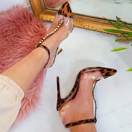 Ericdress Stiletto Heel Pointed Toe T-Shaped Buckle Casual Sandals