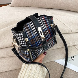 Ericdress Thread Houndstooth PU Rectangle Women's Crossbody Bags