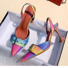 Ericdress Stiletto Heel Slip-On Pointed Toe Prom Shoes