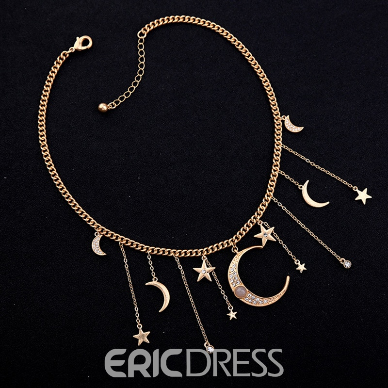 Ericdress Sweet Moon Anniversary Female Necklaces