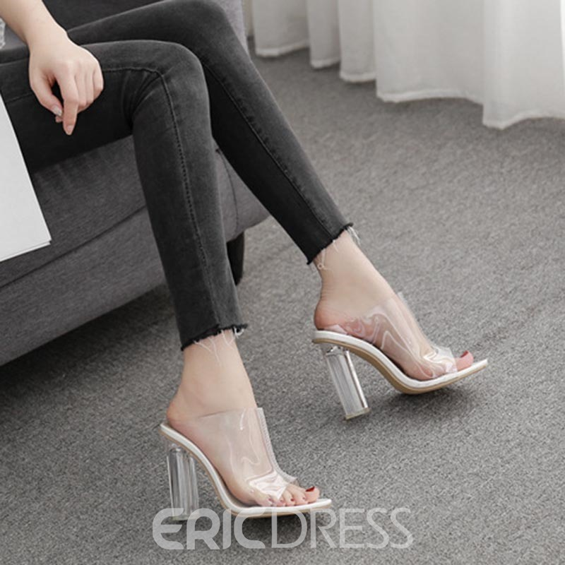 Ericdress Flip Flop Slip-On Chunky Heel Casual Slippers