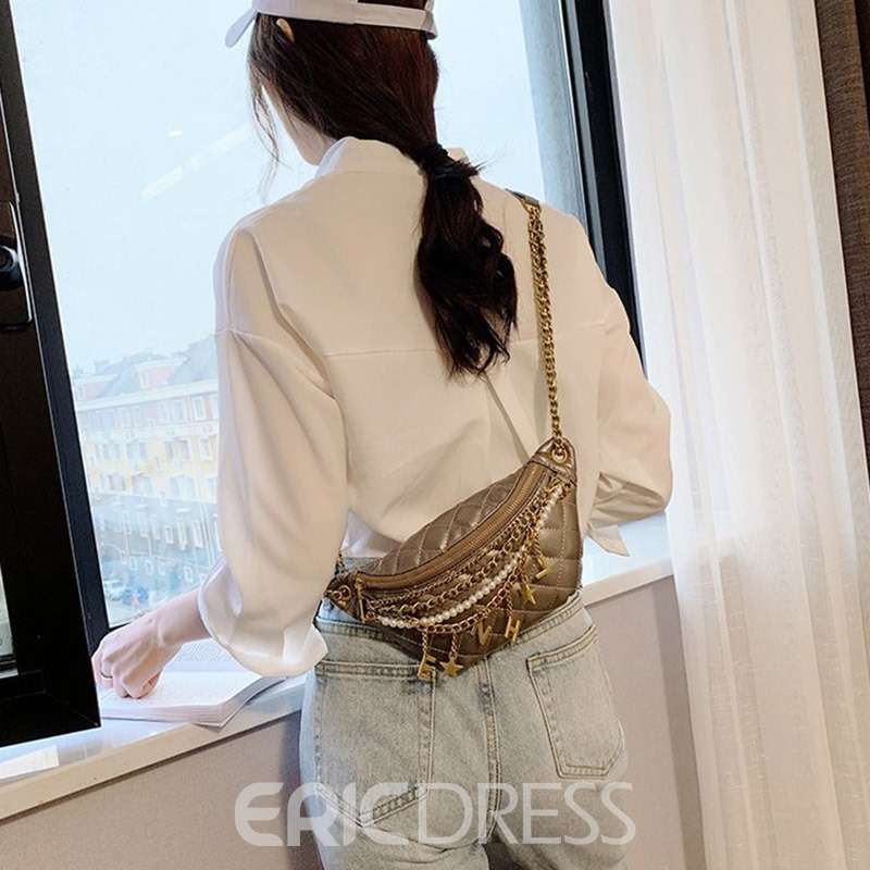 Ericdress PU Quilted Lining Casual Crossbody Bags