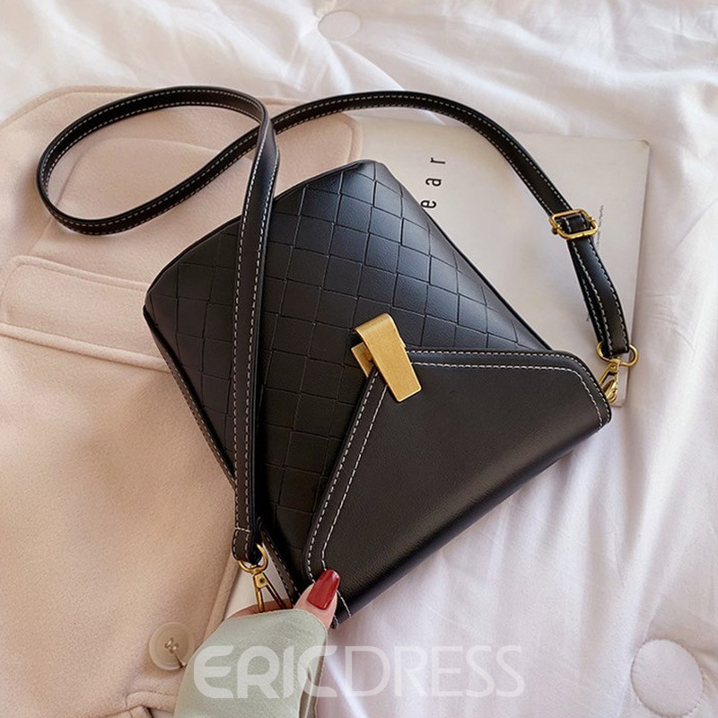 Ericdress PU Quilted Lining Plaid Rectangle Crossbody Bags