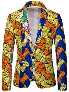 Ericdress Print Casual Color Block Leisure Blazers