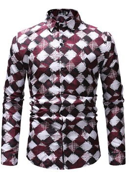 Ericdress Print Lapel Plaid Spring Single-Breasted Shirt