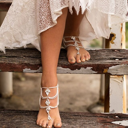 Ericdress Diamante Female Vintage Anklets