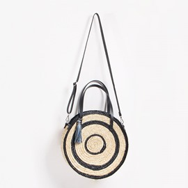 Ericdress Knitted Grass Circular Tote Bags