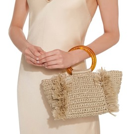 Ericdress Grass Pleated Plain Rectangle Tote Bags