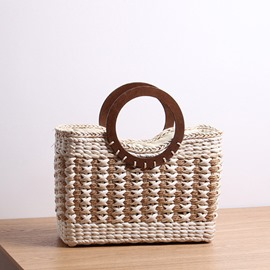Ericdress Grass Knitted Rectangle Tote Bags