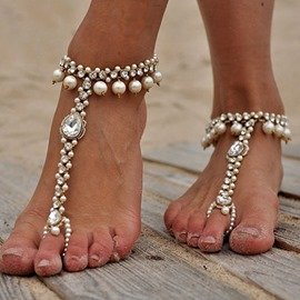 Ericdress Sweet Diamante Women's Anklets
