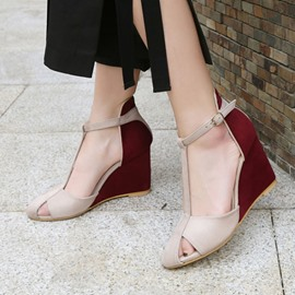 Ericdress Wedge Heel Round Toe Heel Covering Casual Sandals