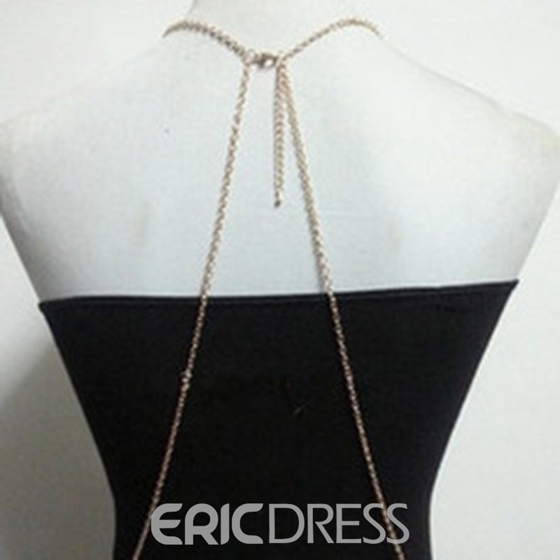 Ericdress Diamante European Body Chain Female Necklaces