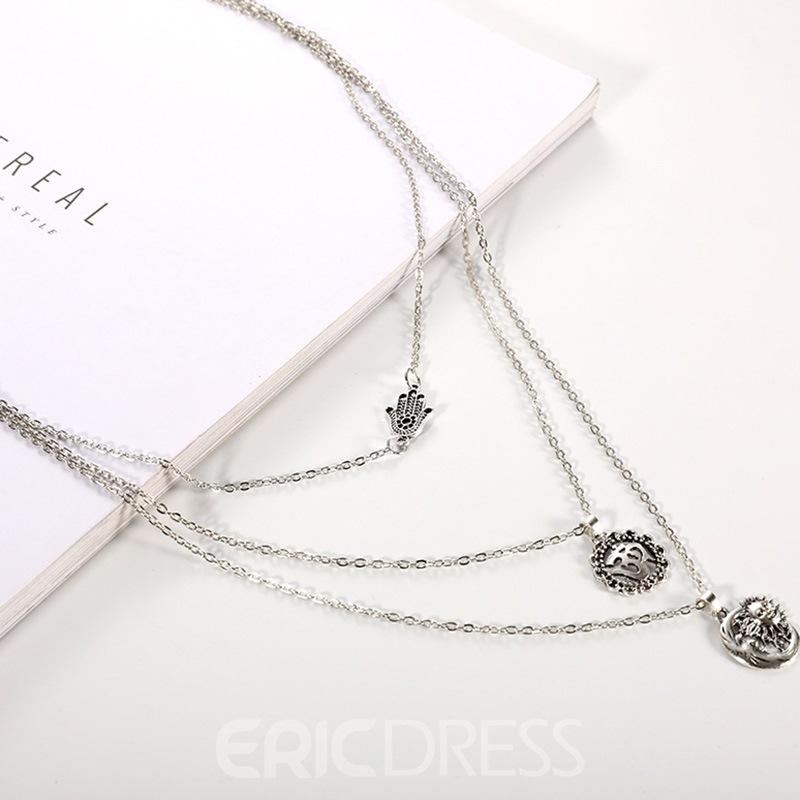 Ericdress Alloy Pendant Vintage Female Necklaces