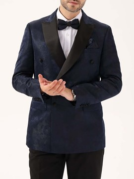 Ericdress Notched Lapel Slim Double-Breasted Men's Leisure Blazers