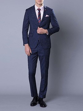 Ericdress Stripe Casual Single-Breasted Men's Dress Suit