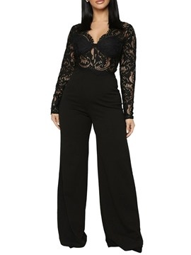 Ericdress Western Patchwork Full Length Women's Slim Jumpsuit