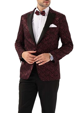 Ericdress Print One Button Fashion Men's Leisure Blazers
