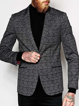 Ericdress Casual Notched Lapel Print Men's Leisure Blazers