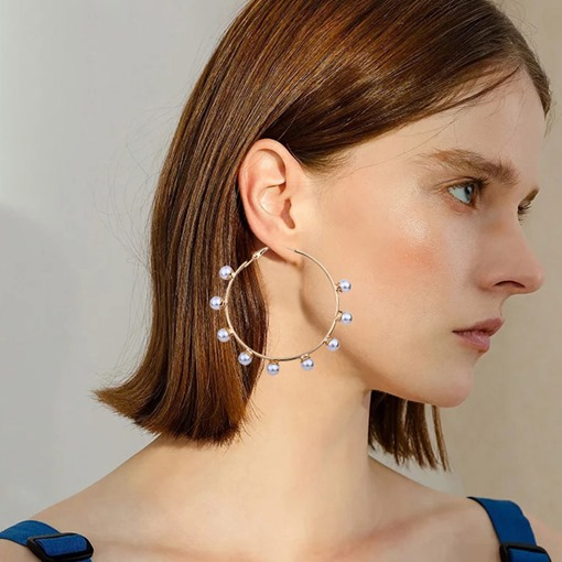 Ericdress Pearl Inlaid Alloy Prom Earrings