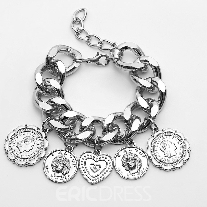 Ericdress Heart-Shaped E-Plating Female Bracelets