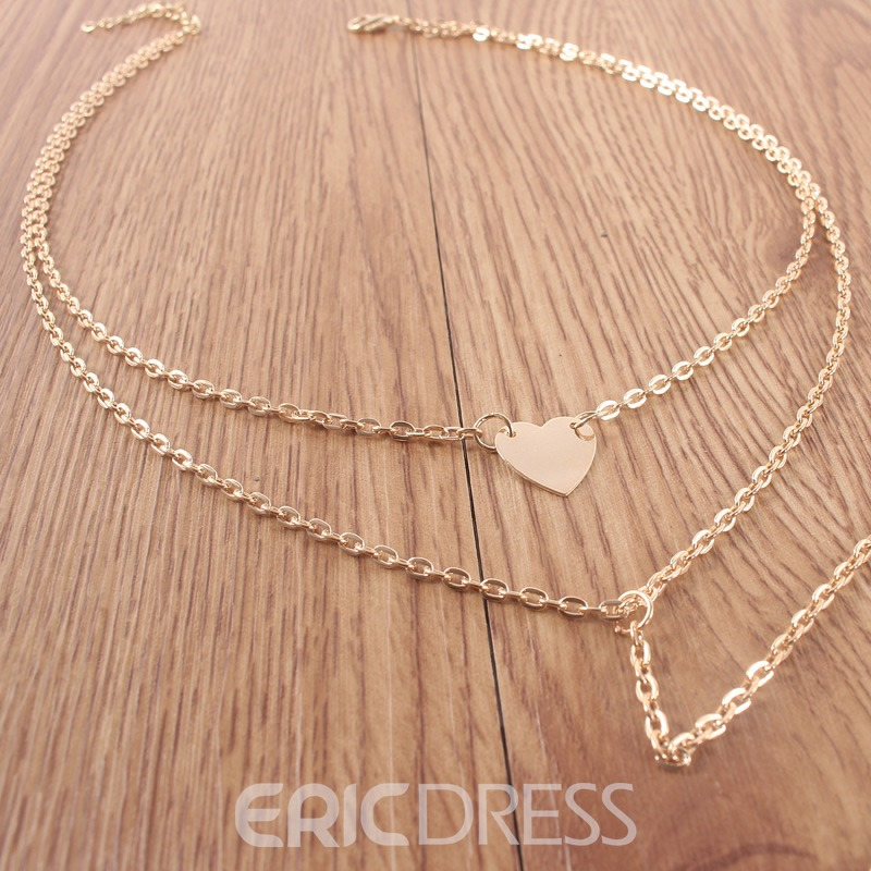 Ericdress Heart-Shaped E-Plating Pendant Female Necklaces