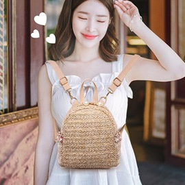 Ericdress Knitted Grass Casual Women's Backpacks