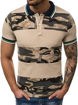 Ericdress Print Camouflage Casual Men's Polo Shirt