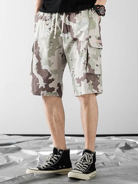 Ericdress Loose Print Camouflage Men's Casual Lace-Up Shorts