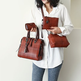 Ericdress PU Plaid Thread Rectangle Tote Bags
