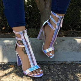 Ericdress Chunky Heel Open Toe Thread Sandals