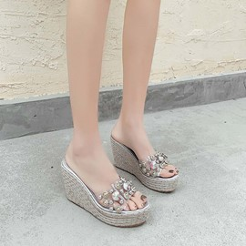 Ericdress Flip Flop Rhinestone Slip-On Rubber Slippers