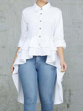 Ericdress Long Three-Quarter Sleeve Blouse