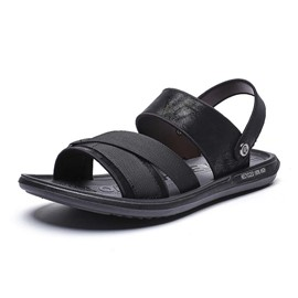 Ericdress Flat Heel Slip-On Open Toe Men's Sandals