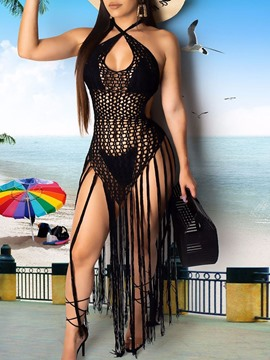 Ericdress Tassel Sweet One Piece Swimwear