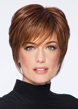 Ericdress Natural Looking Short Pixie Cut Hairstyles Women's Straight Human Hair Lace Front Wigs 8 Inch